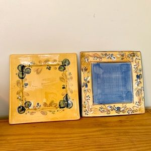 🇫🇷 (2) French Pottery Small Plates